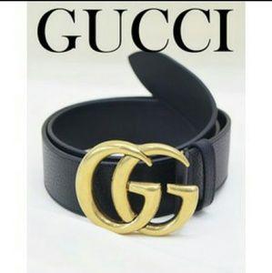 af2b6a349 Men All Black Gucci Belt on Poshmark